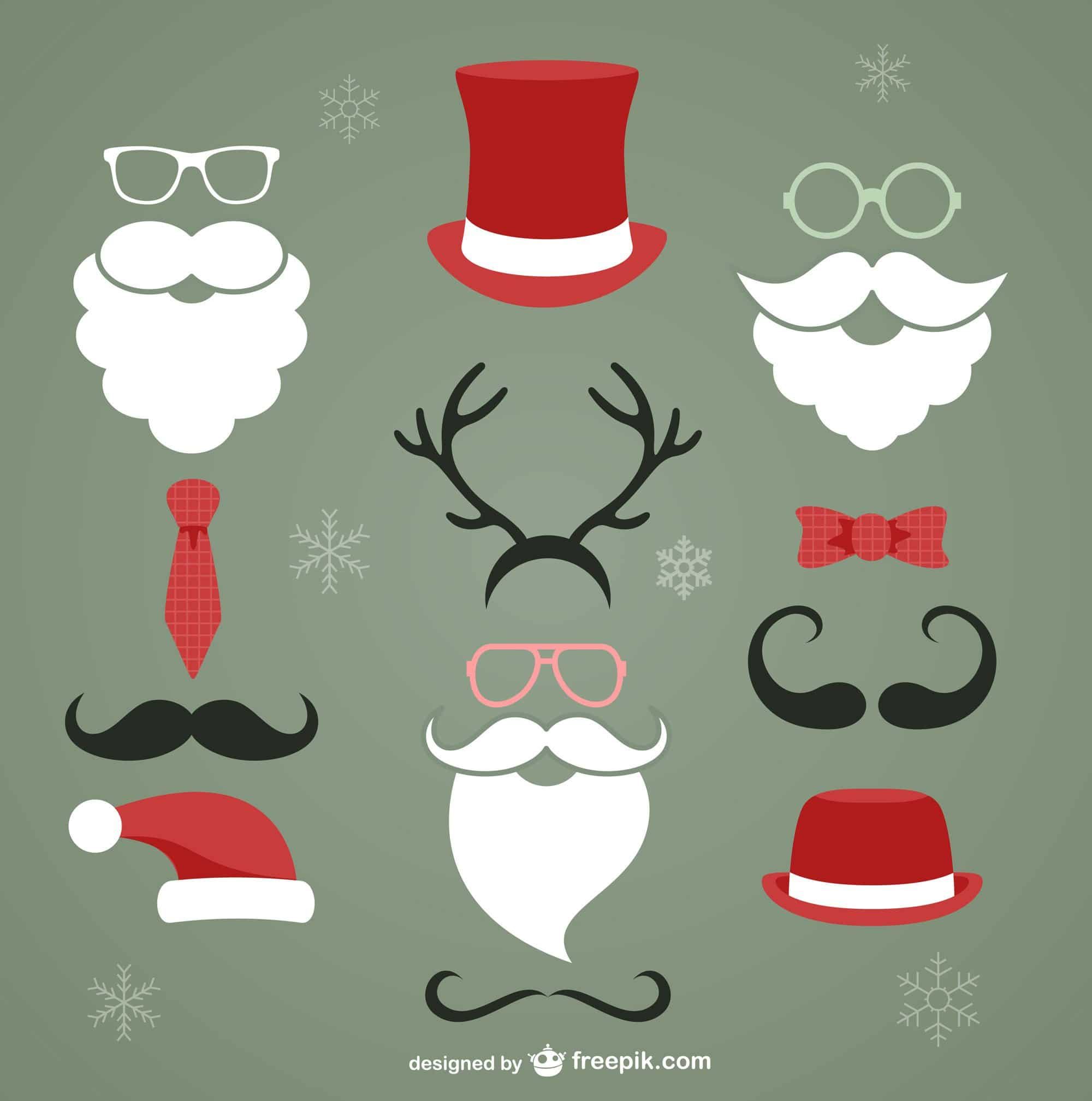 Christmas Hipster Elements Vector