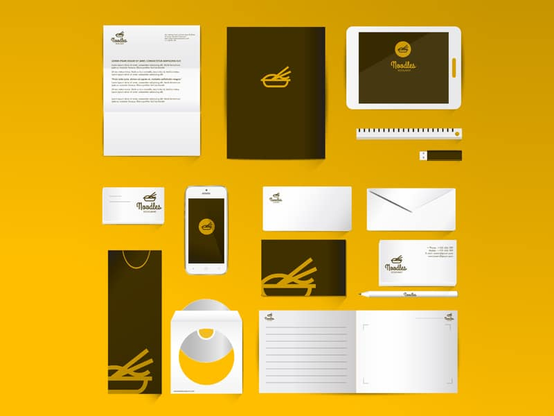 Corporate identity set mock-up