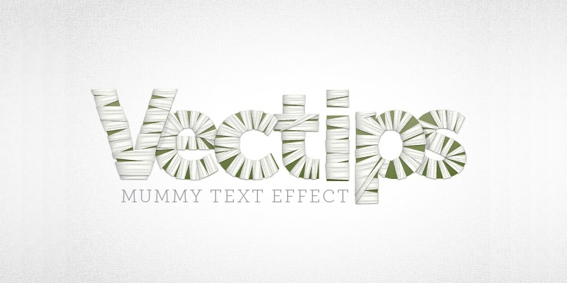 Create a Mummy Text Effect