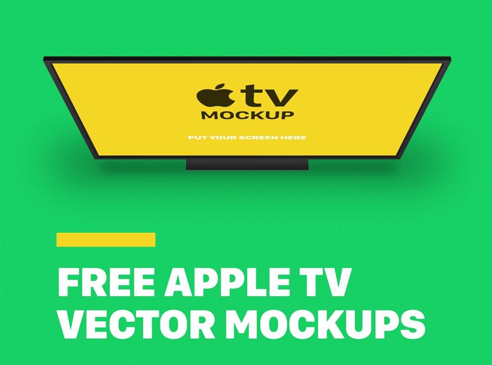 Free Apple TV Mockups
