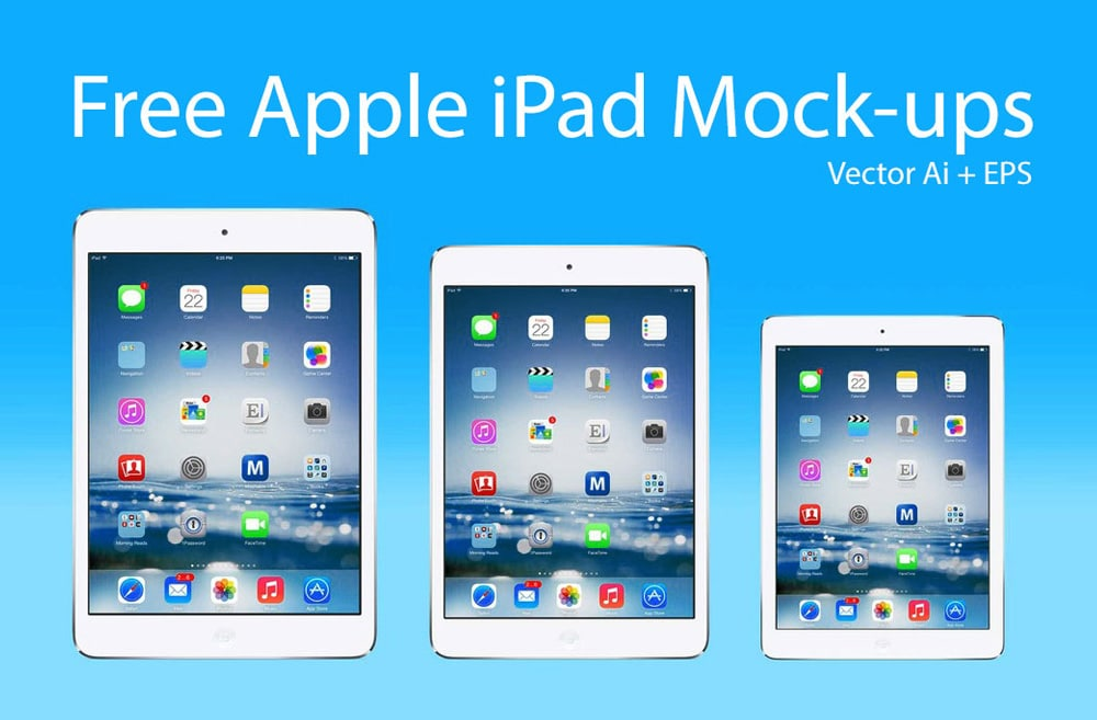 Free Apple iPad Mockups