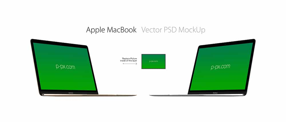 Free Apples New MacBook Vector Mockup