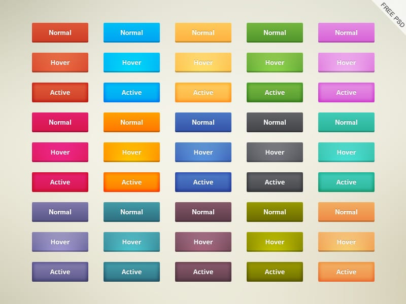 Free Cool Buttons PSD