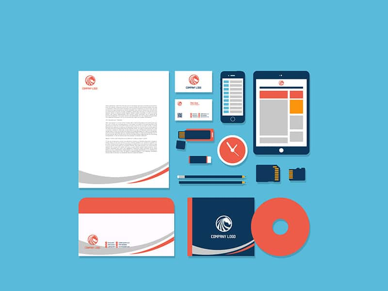 Free Flat Vector Stationery Design Template & Mock-up