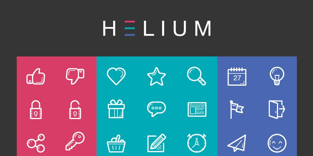 Free Helium Icons Set