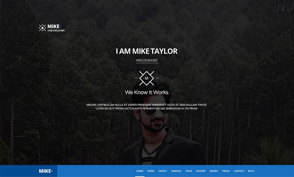 Free Single Page Web Template PSD