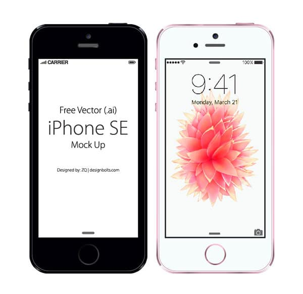 Free Vector Apple IPhone SE Mockup