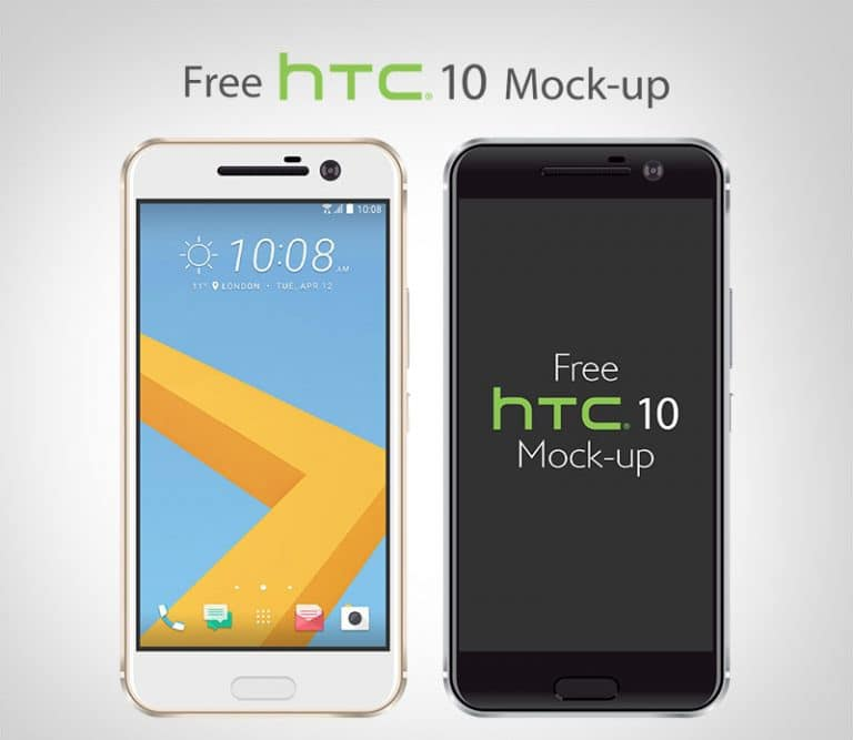 Free Vector HTC 10 Smartphone Mockup