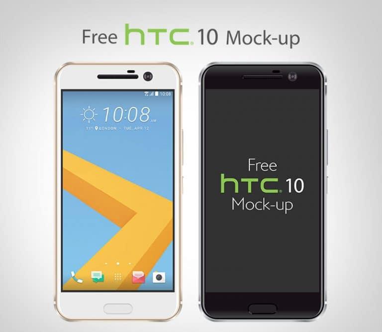Free Vector HTC 10 Smartphone Mockup