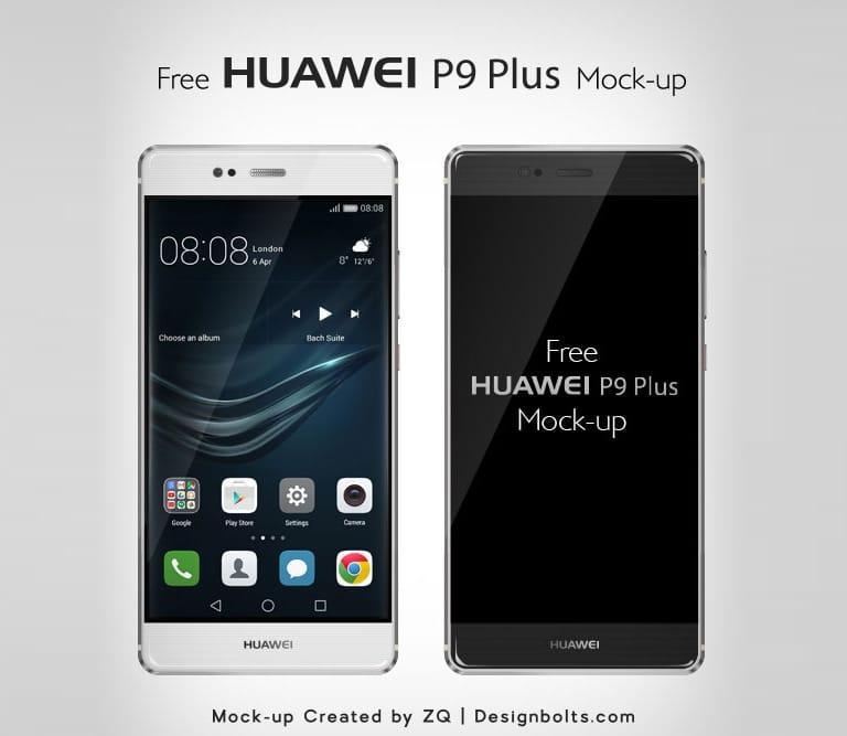 Free Vector Huawei P9 Plus Mockup