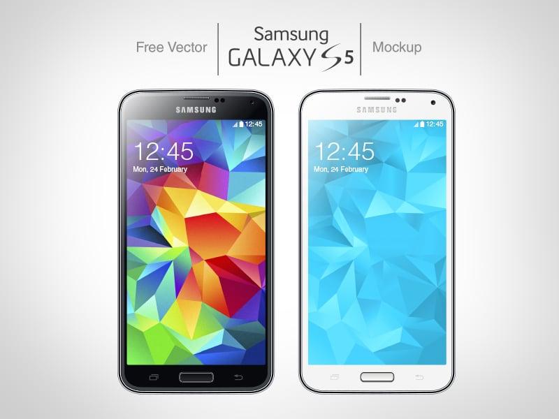 Free Vector Samsung Galaxy S5 Mockup