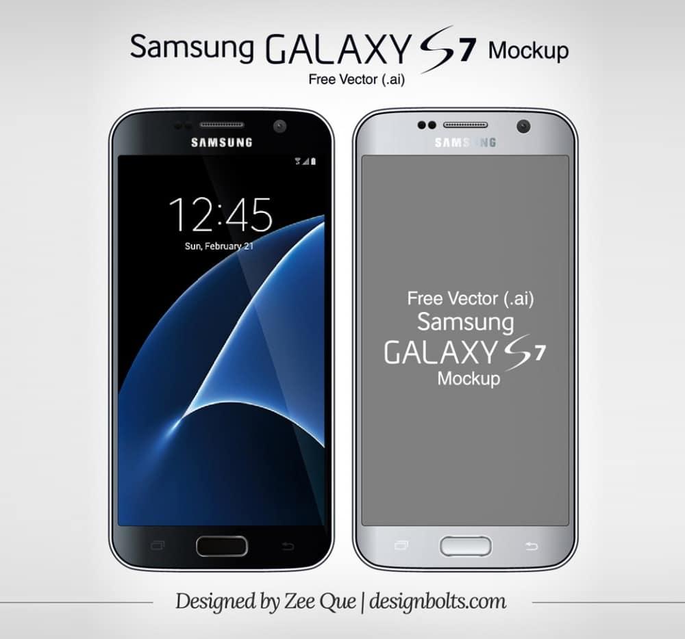 Free Vector Samsung Galaxy S7 Mockup