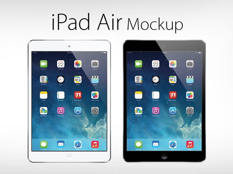 Free Vector iPad Air Mockup