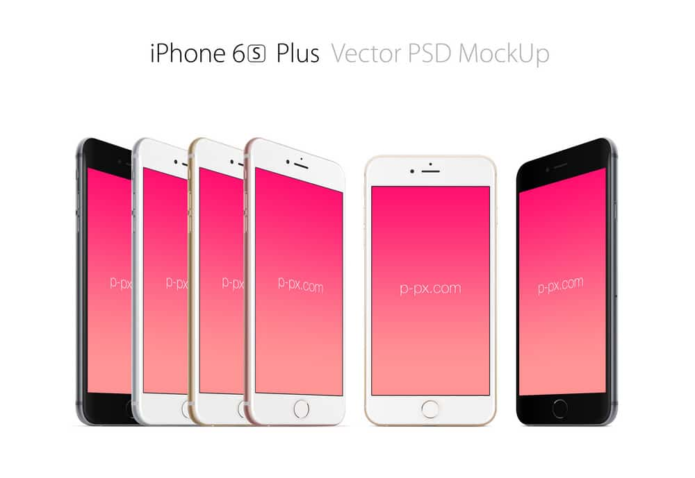 Free iPhone 6s plus Vector Mockup