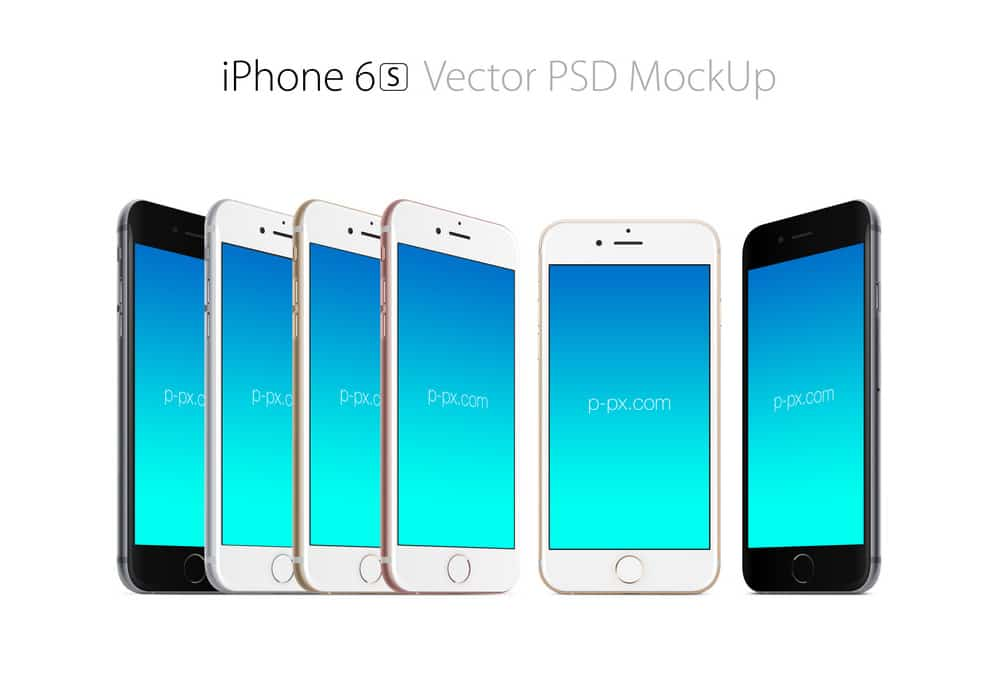 Free iphone 6s Vector Mockup