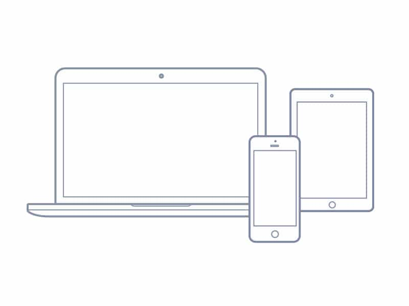 Free vector Macbook, Ipad, and Iphone