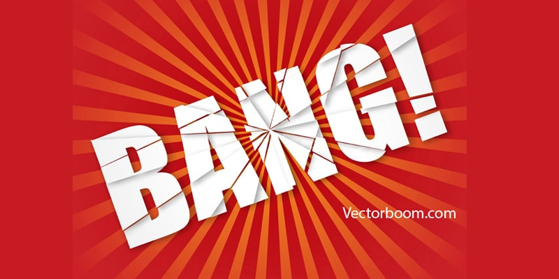 How to create explosion text effect in Illustrator