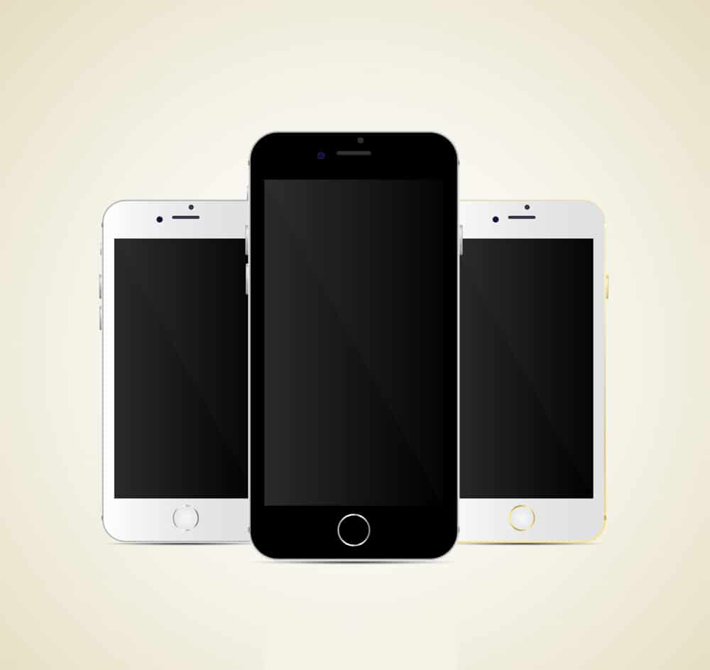 I Phone 6 Vector Mockup Template