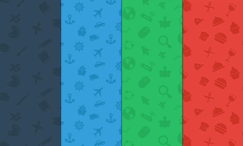 Icon Pattern Backgrounds Set