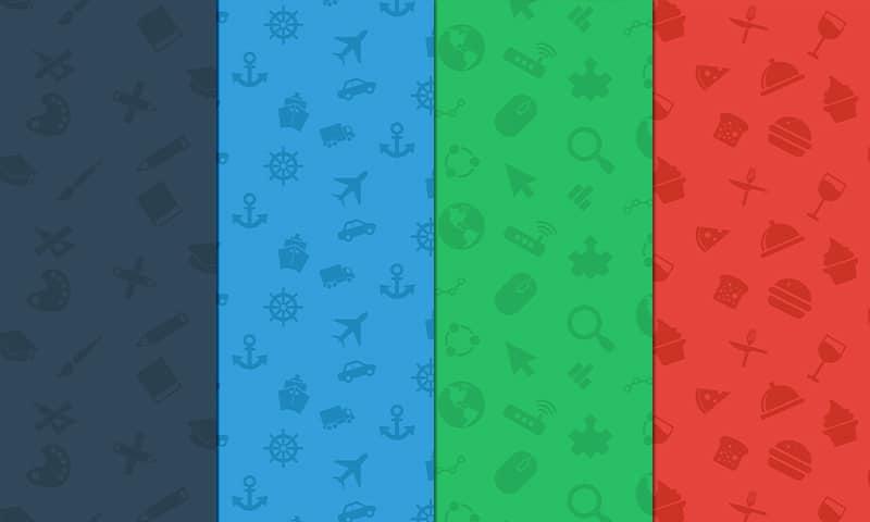 Icon Pattern Backgrounds Set