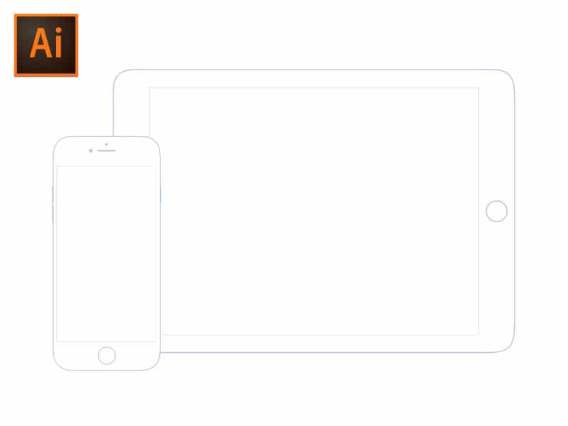 Illustrator iOS Wireframe Mockup