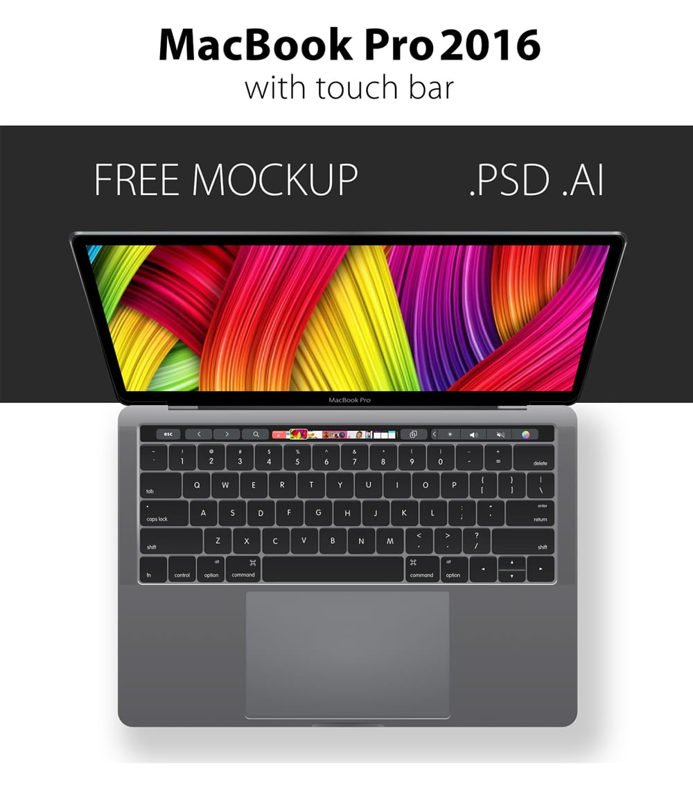 MacBook Pro 2016 Mockup Vector