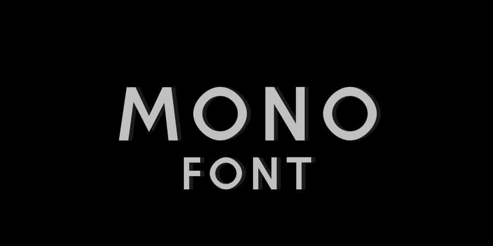 Mono Free Font