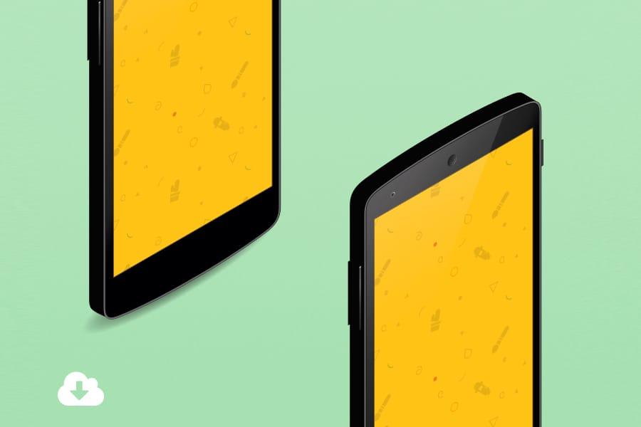 Nexus 5 Isometric Mockup