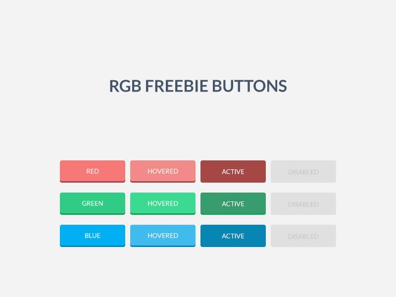 RGB Free Buttons PSD