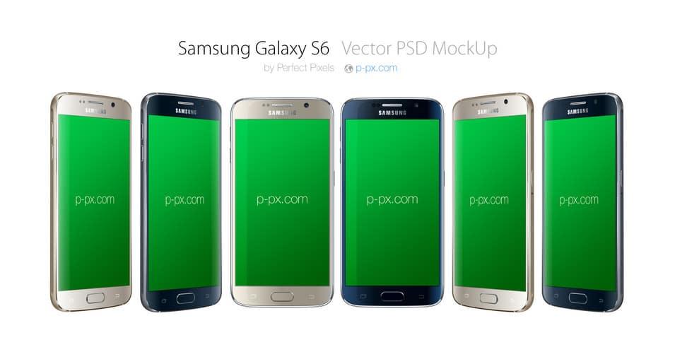 Samsung Galaxy S6 Mockup Vector