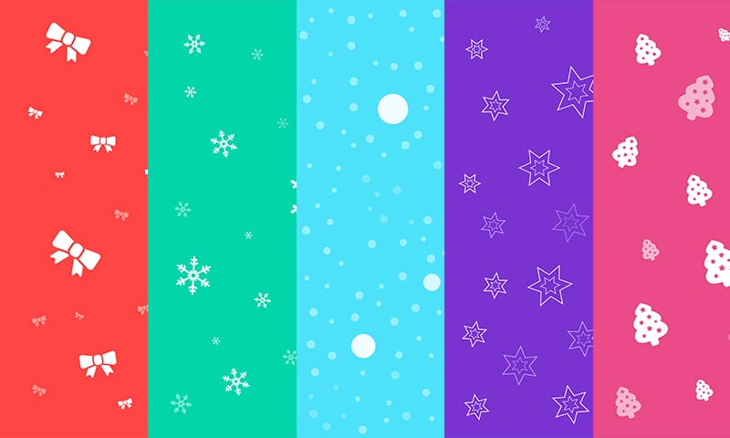 Seamless Christmas Backgrounds Set