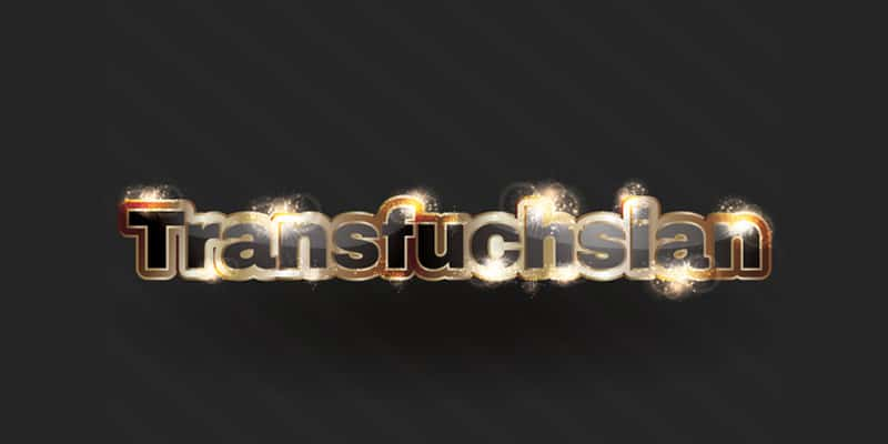 Sparkling Gold Text Effect