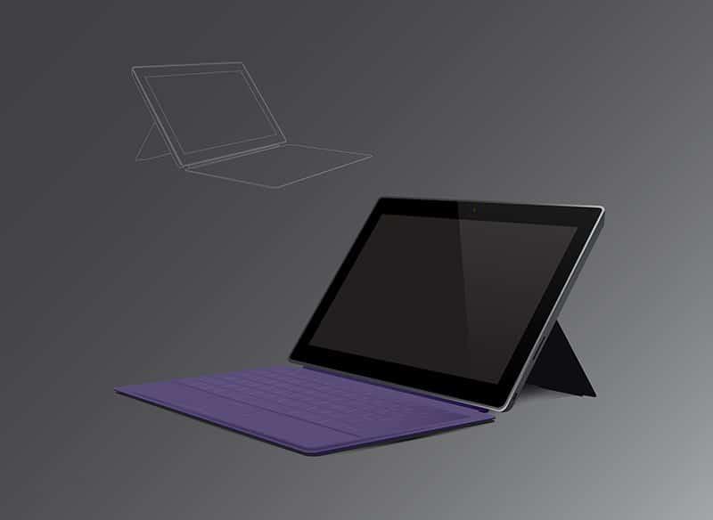 Surface Pro mockup