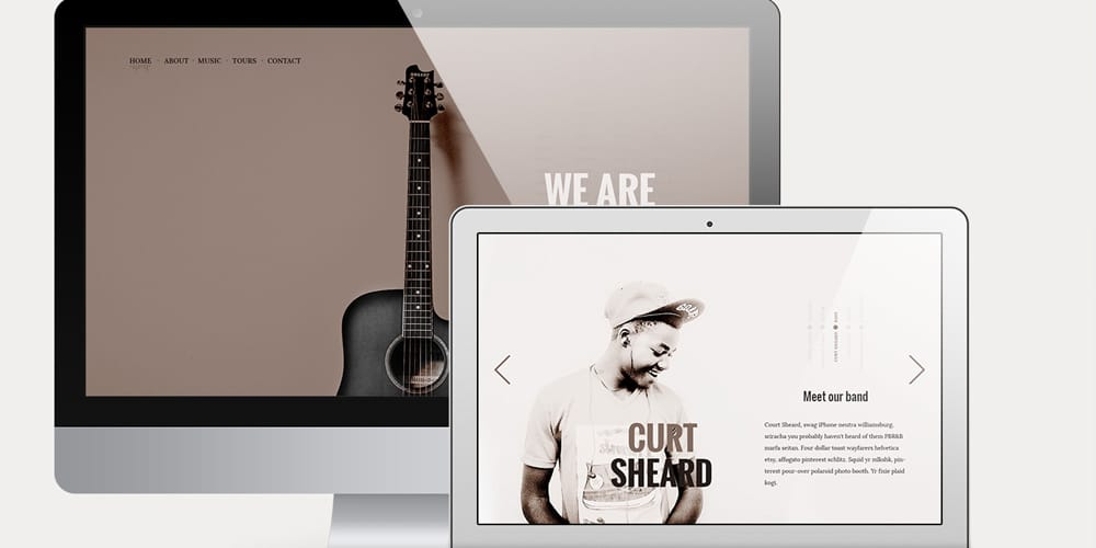 The Band Free Music Related Web Template PSD