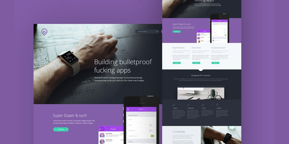 Free single page website templates psd css author tork free psd website template style in photoshop uses a subtle purple and grey colour scheme to fit well with startup photography and iconography pronofoot35fo Choice Image