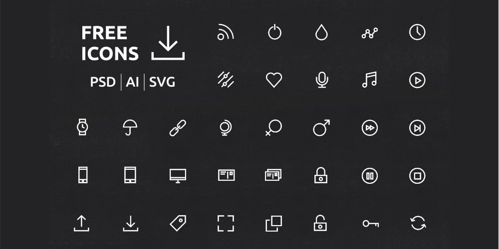 UI or UX Icons Set