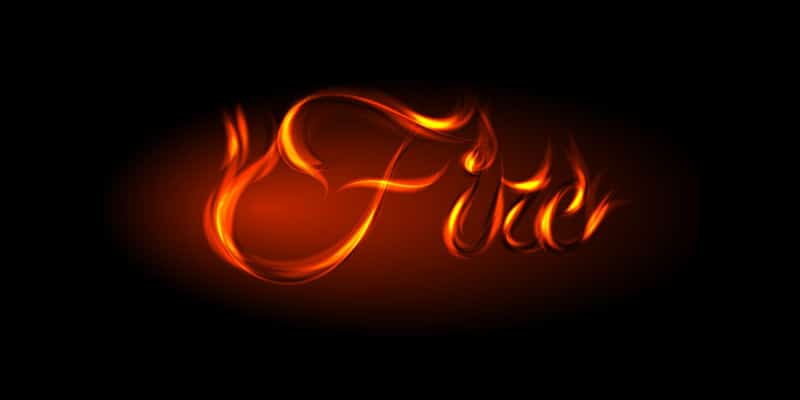 Vector Fire Text Effect