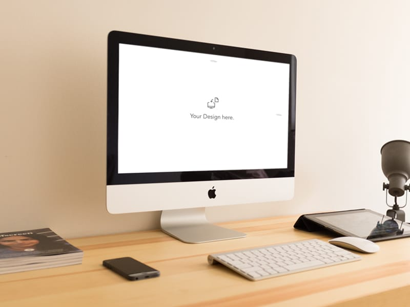 iMac Mockups PSD