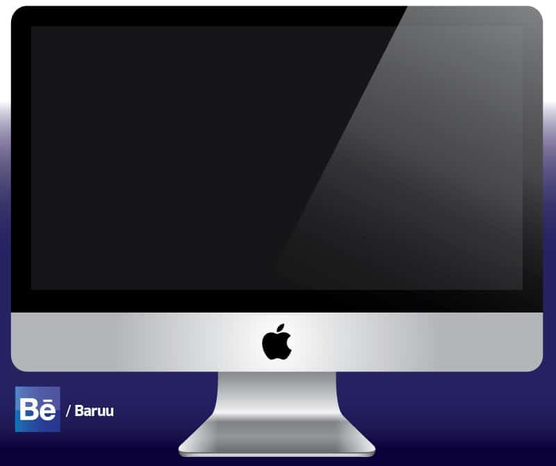 iMac Vector Mockup