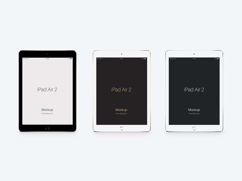 iPad Air 2 Vector Mockup PSD