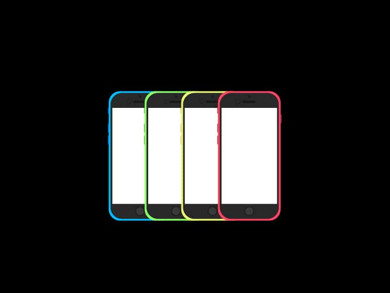 iPhone 6 colourful Mockups