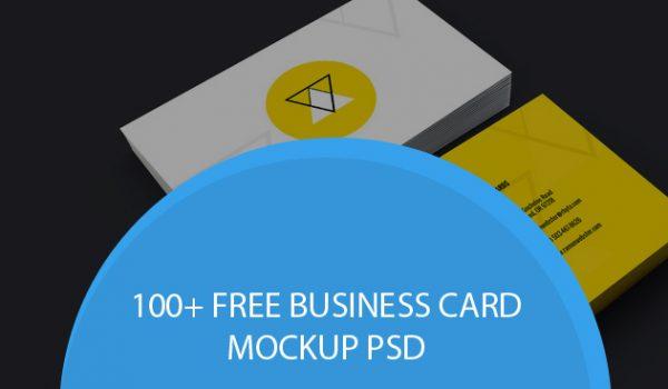 100+ Free Business Card Mockup PSD