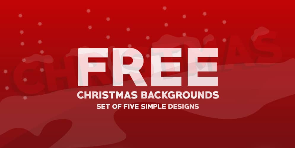 5 Free Christmas Backgrounds