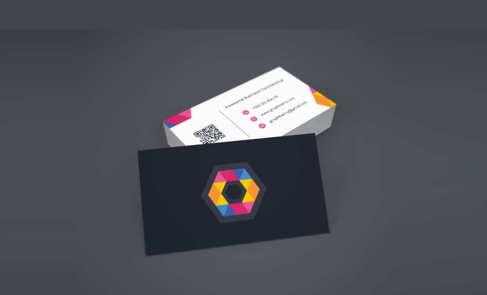 Business Card Mockup PSD