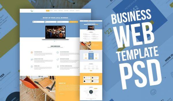 Business Web Template PSD