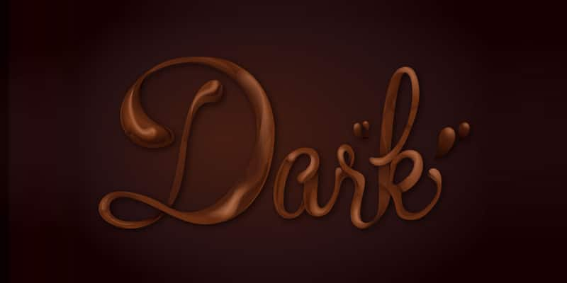 Chocolate Text Vector Tutorial