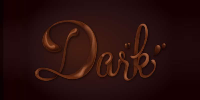 Chocolate Text Vector Tutorial