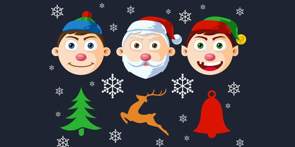 Christmas Character Heads PSD