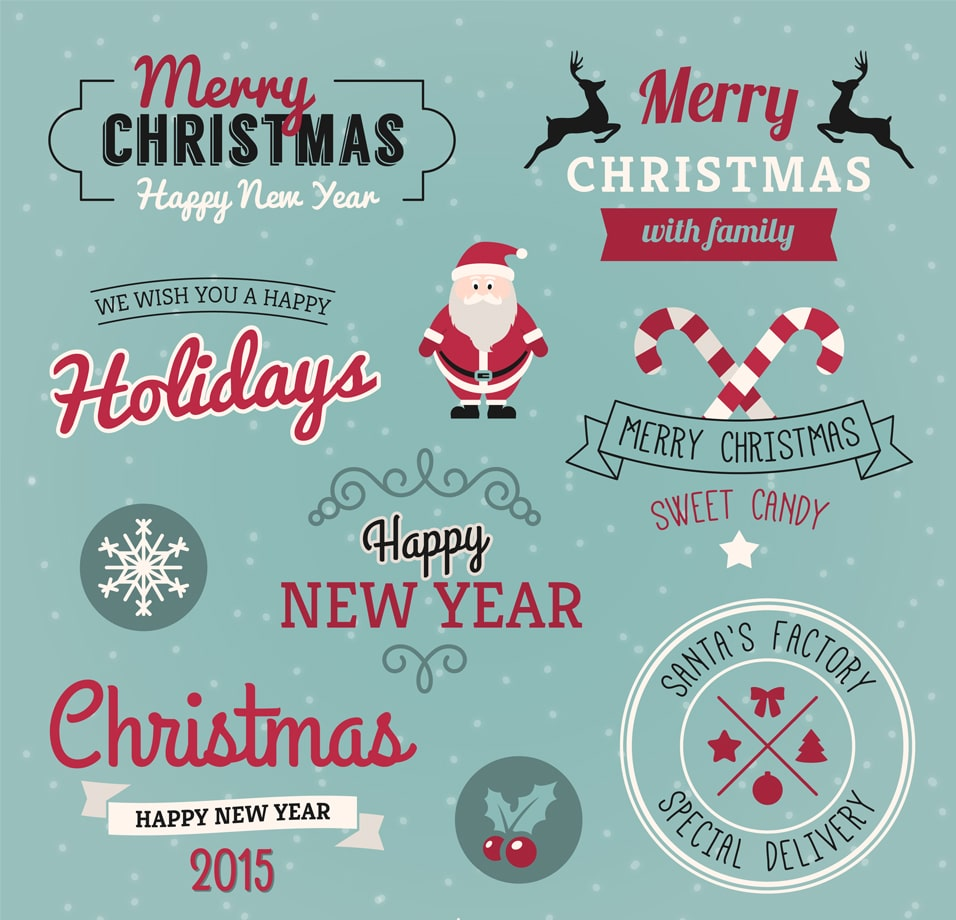 Christmas Greetings Pack Vector