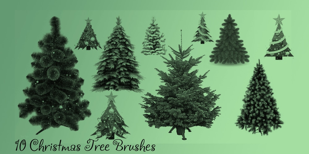 Christmas Tree Brush Set